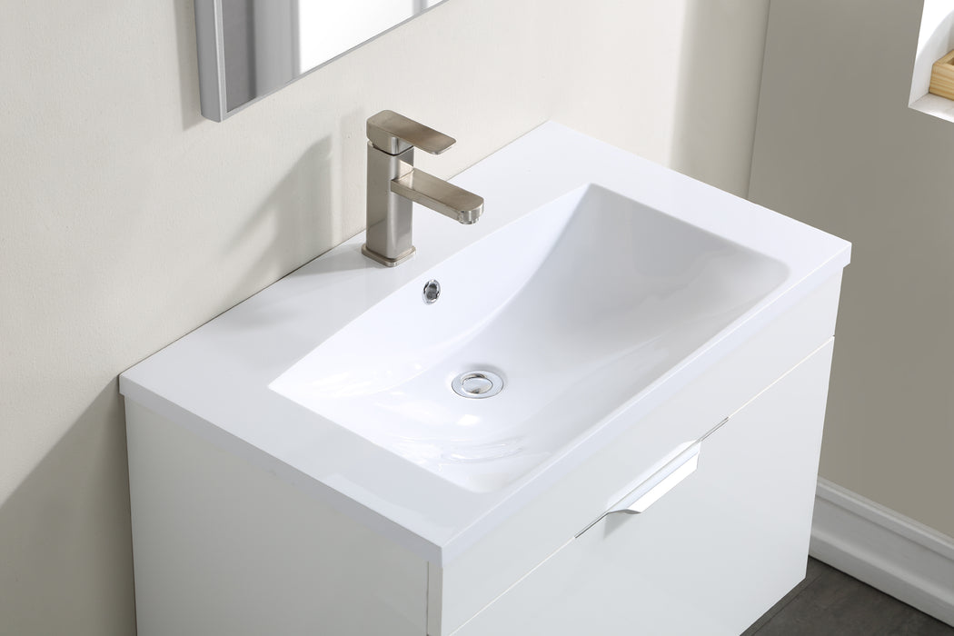 Stufurhome Delilah 30 inch Wall Mounted Single Sink Bathroom Vanity, No Mirror myhomeandbath
