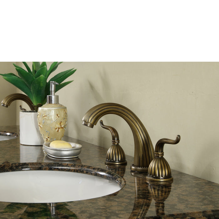 60 inch Saturn Double Sink Vanity with Baltic Brown Granite Top