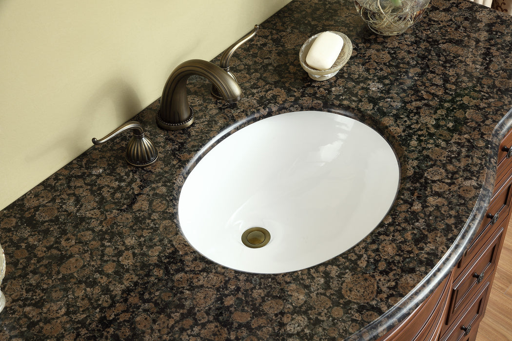 48 inch Yorktown Single Sink Vanity with Baltic Brown Granite Top