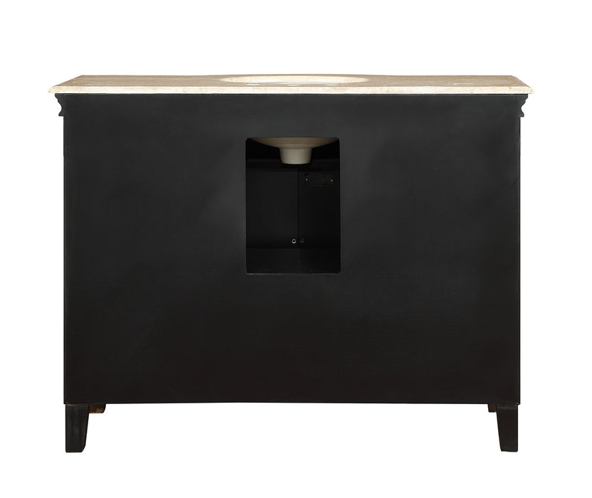 48 inch Yorktown Single Sink Vanity with Travertine Marble Top myhomeandbath