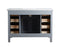 Genevieve 48 Inches Slate Gray Single Vanity Cabinet w/ Shutter Double Doors Single Bathroom Sink