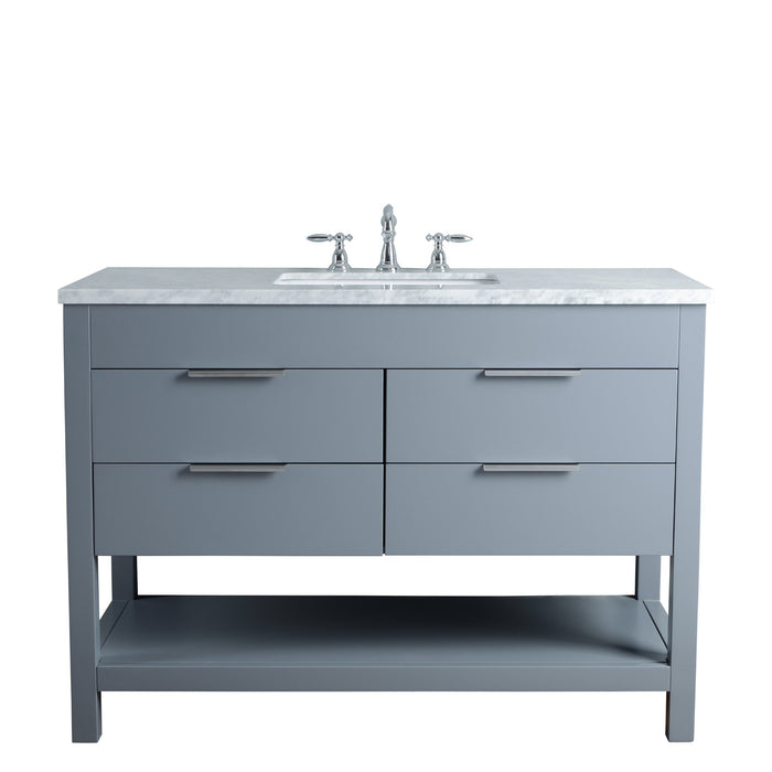 Rochester 48 Inches Grey Single Sink Bathroom Vanity myhomeandbath