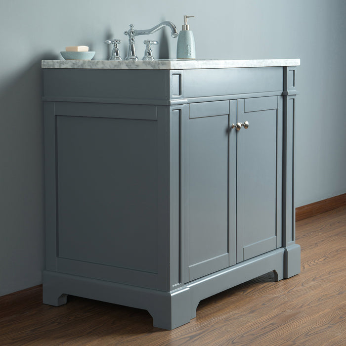 Seine 36 Inches Grey Single Sink Bathroom Vanity myhomeandbath