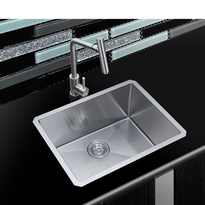 16-gauge Undermount Stainless Steel 23 in. Single Bowl Kitchen Sink