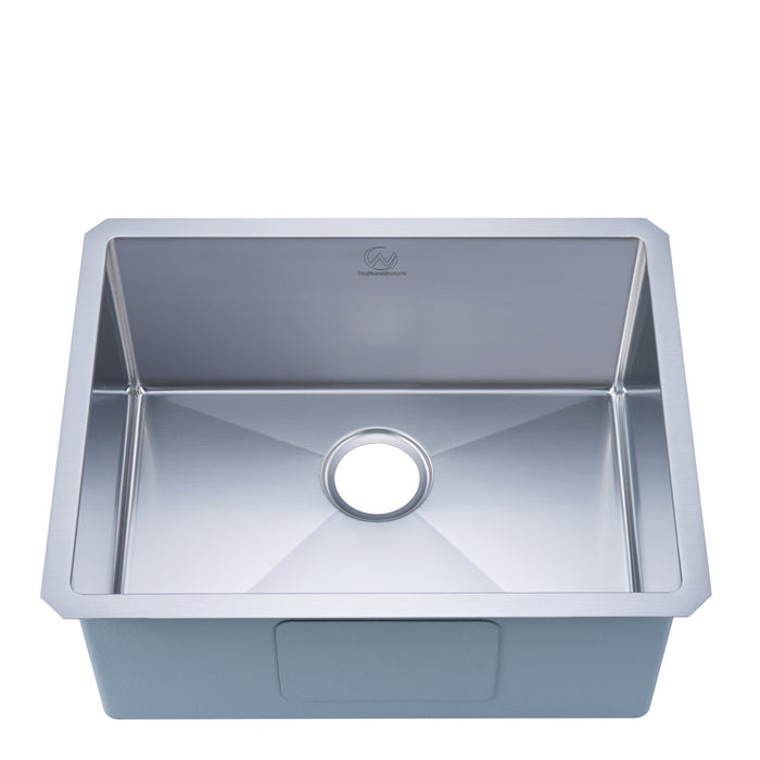 Stufurhome 16-gauge Undermount Stainless Steel 23 in. Single Bowl Kitchen Sink
