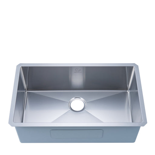 18-gauge Undermount Stainless Steel 30 in. Single Bowl Kitchen Sink myhomeandbath