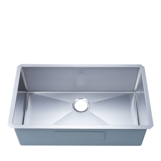 16-gauge Undermount Stainless Steel 32 in. Single Bowl Kitchen Sink myhomeandbath
