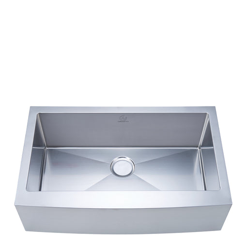 16-gauge Apron/Farmhouse Stainless Steel 33 in. Single Bowl Kitchen Sink myhomeandbath