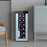 Powell 12 Bottle Single Zone Freestanding Wine Cooler myhomeandbath