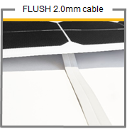 SUNBEAM system FLUSH WHITE CABLE - 2mm, Pre-Tinned (per metre) - DanVolt Online