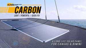 **NEW** SUNBEAM system Tough+ CARBON Quick Fix 116W solar panel - DanVolt Online