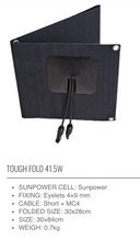 Load image into Gallery viewer, **NEW** SUNBEAM system Tough FOLD Portable Solar Panels - DanVolt Online