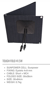 **NEW** SUNBEAM system Tough FOLD Portable Solar Panels - DanVolt Online
