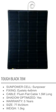 Load image into Gallery viewer, SUNBEAM system Tough Flush - BLACK SERIES - Solar Panel - DanVolt Online