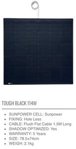 SUNBEAM system Tough Flush - BLACK SERIES - Solar Panel - DanVolt Online
