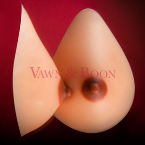Vawn and Boon Arabella ELECTRA Silicone Breast Forms Mocha Nipples
