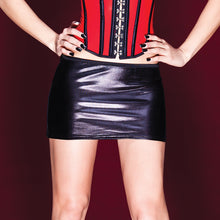 Darque Black Wet Look Mini Skirt
