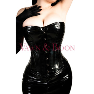 Vawn and Boon Black Venom steel boned corset