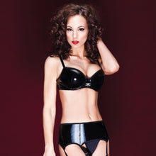 Darque Padded PVC Bra with Skull Charm
