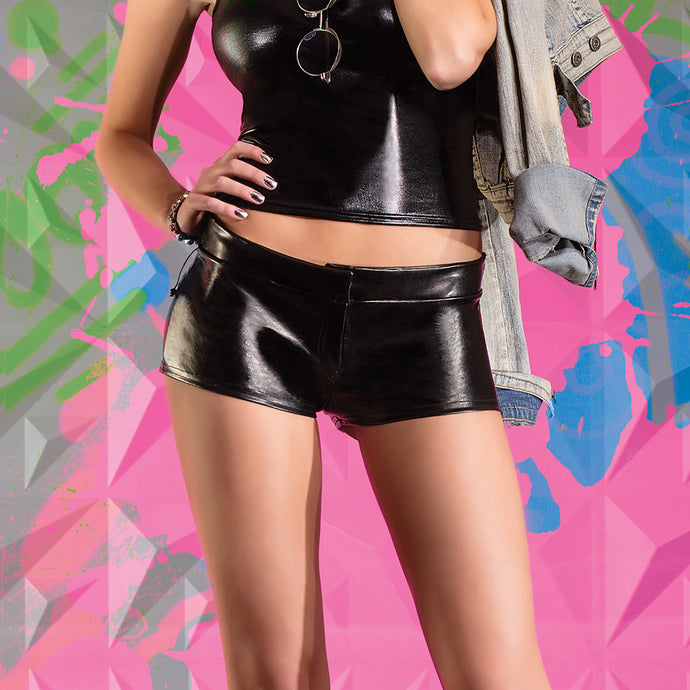 Darque Faux Leather Shorts