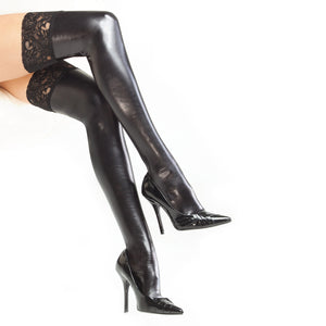 Darque Wet Look Stockings
