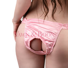 Unisex Pink Back Door Satin Panty