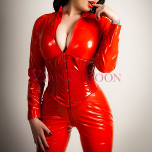 Vawn and Boon Red Matriarch PVC Catsuit