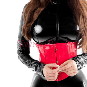 Vawn and Boon Red Wasp steel boned PVC corset