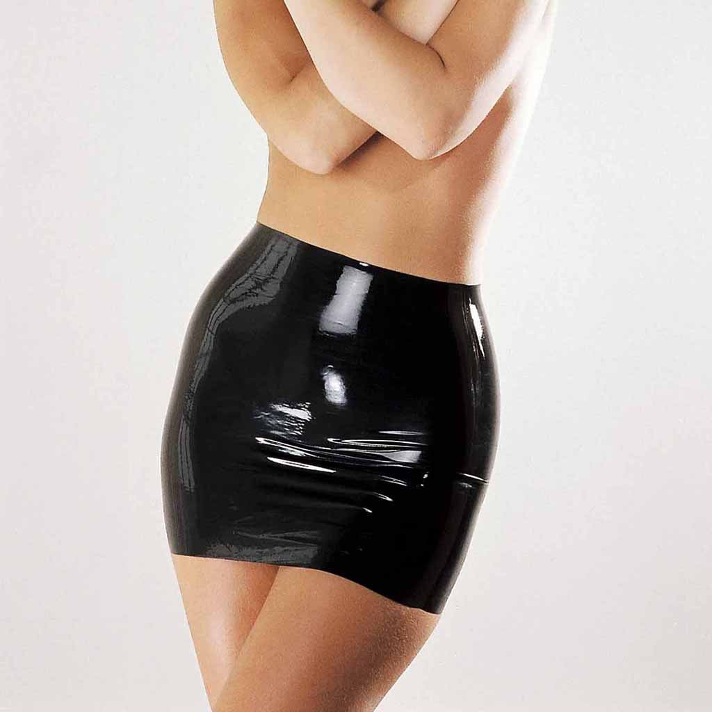 Sharon Sloane Latex Mini Skirt