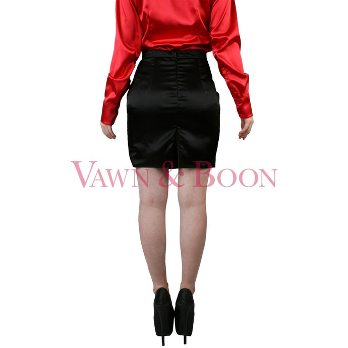 Vawn-and-Boon-short-satin-skirt-crossdresser