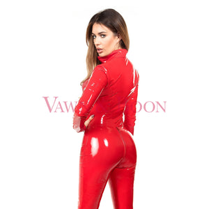 Vawn and Boon Red Vortex PVC Catsuit
