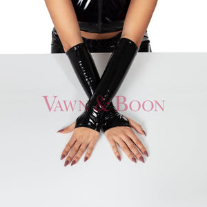 Vawn and Boon PVC fingerless gloves