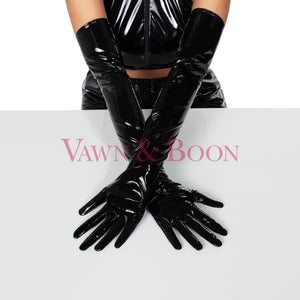 Vawn and Boon long PVC opera gloves