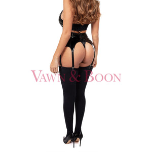 Vawn & Boon PVC suspender belt