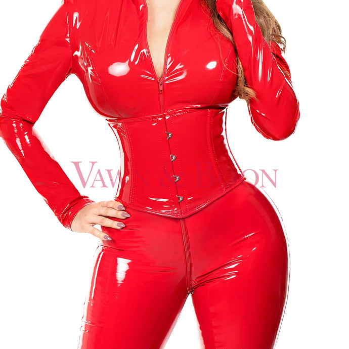 Vawn and Boon Red Thorax Steel Boned Corset