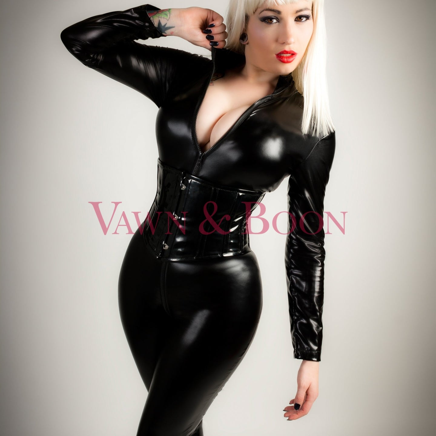 Vawn and Boon Wet Look Stretchy Catsuit