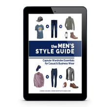 Load image into Gallery viewer, The Men's Style Guide: Capsule Wardrobe Essentials for Casual & Business Wear (ebook, printable, book)