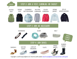 """Get Dressed!"" Cheat Sheets for Kids"