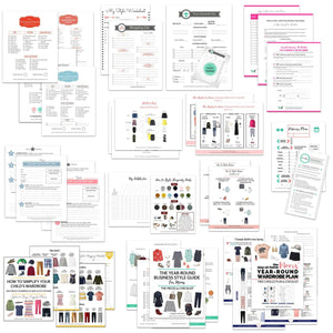 Printables Bundle: Capsule Checklists, Outfit Planners, Style Guides, Shopping Lists, and Wardrobe Worksheets