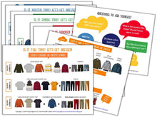 "Load image into Gallery viewer, ""Get Dressed!"" Cheat Sheets for Kids"