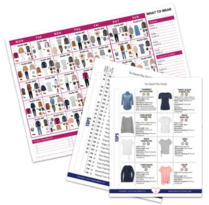 Build Your Bundle Bonus: What to Wear Outfits Calendar Printable, 3 Months (with Wardrobe Plan Booklet!)