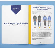 Load image into Gallery viewer, how to dress nice for guys, men's dressing tips in the Frump Fighters Men's style guide book.