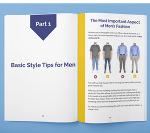 how to dress nice for guys, men's dressing tips in the Frump Fighters Men's style guide book.