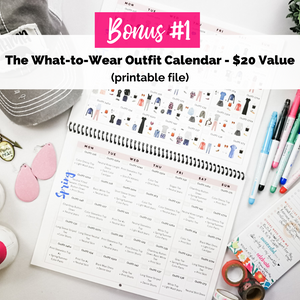 Valentines Bundle: The 3rd Edition Year-Round Outfit Guide for Moms + Bonuses (Printable Outfit Calendar, Body Shape Cheat Sheet)