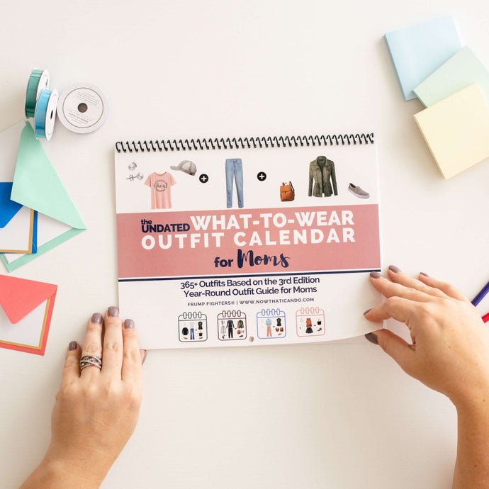 The What to Wear Outfit Planner Calendar Printable with Casual Capsule Wardrobe Plan for Stay at Home Moms