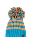 Blue & Orange Big Bobble Hat