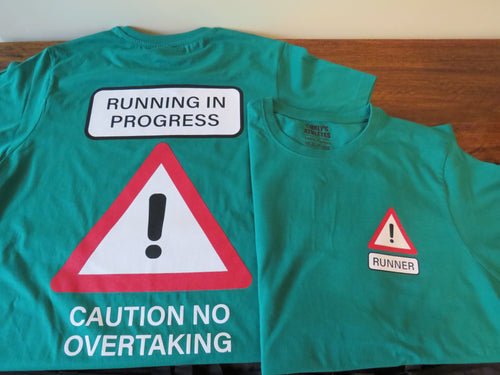 Caution Runner 100% cotton t-shirt