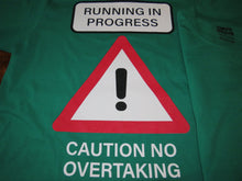 Load image into Gallery viewer, Caution Runner 100% cotton t-shirt