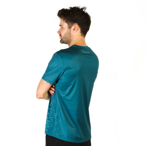 Mens Dot Matrix Green Design Recycled Running T-shirt
