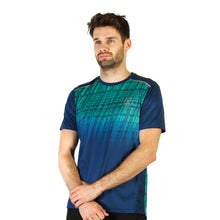 Load image into Gallery viewer, Mens Digital Green & Blue Design Recycled Running T-shirt